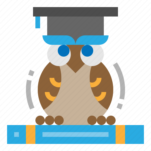 bird, education, owl, wisdom icon