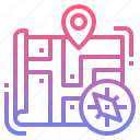 compass, explore, map, navigation icon