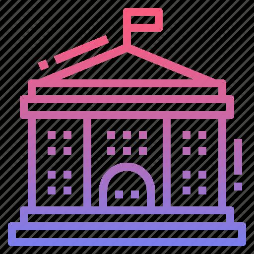 building, college, school, university icon