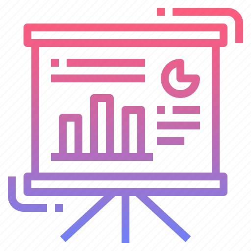 analytics, board, presentation, write icon