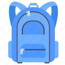 bag, school, school bag, study icon