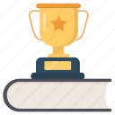 achievement, award, book, trophy, winner icon