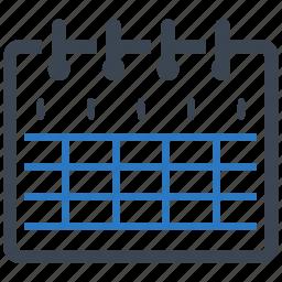 calendar, education, school schedule icon