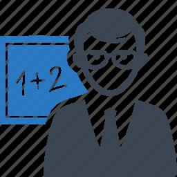 education, math, student, teacher icon