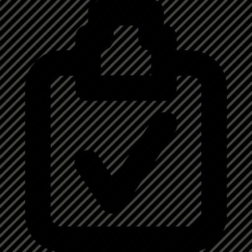 checklist, checkmark, clipboard, correct, tick icon