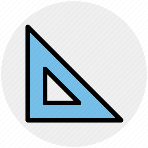 interface, math, mathematics, ruler, science, triangle icon