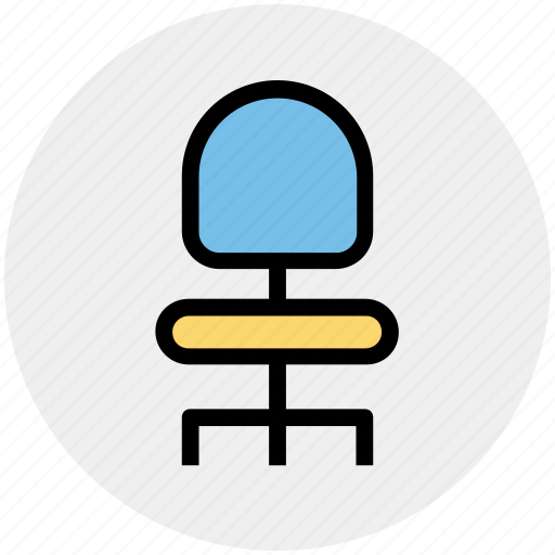 chair, furniture, office chair, school chair, seat, student chair icon