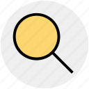 find, magnifier, magnify glass, search, searching, zoom icon