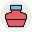 bottle, ink, ink bottle, ink pot, leaf icon