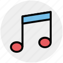 music, music sign, musical, note, song, sound icon