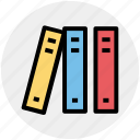 books, education, knowledge, library, reading, study icon