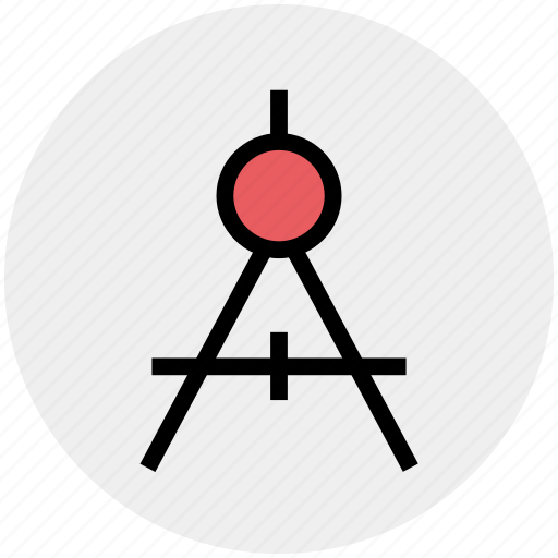dividers, drafting, education, geometry, math, mathematics icon