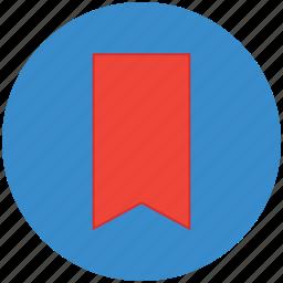 bookmark, bookmark ribbon, label, mark, tag icon