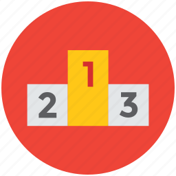 blocks, counting, podium, winners, winners podium icon