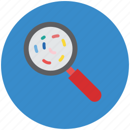 find germs, looking to germs, magnifier, magnify, search, search germs icon