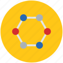 atom, chain, chemistry, chemistry lab, compound, linkage, molecule, science icon