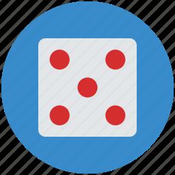 casino, casino dice, dice, dice piece, gamble, gambling, game icon