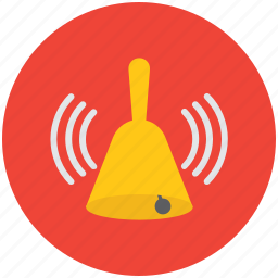 alert, ding dong, hand bell, ring, ringing bell, school bell, temple bell icon