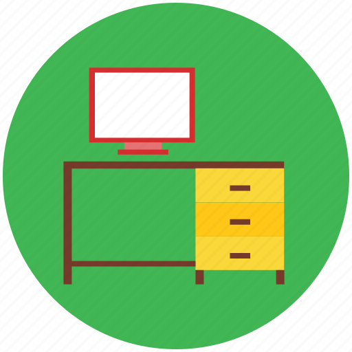 computer, computer desk, computer with table, desk, lamp computer, pc, study desk, table, work, workstation icon