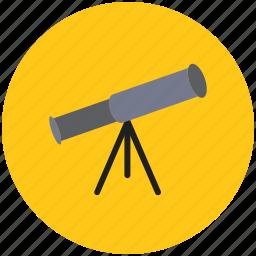 astronomy, education, planet telescope, science, spy glass, telescope icon