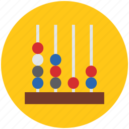 abacus, abacus bars, beads frame, calculate, calculation, counting, counting frame icon