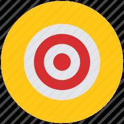 aim, bullseye, business aim, dart, goal, investment, target icon