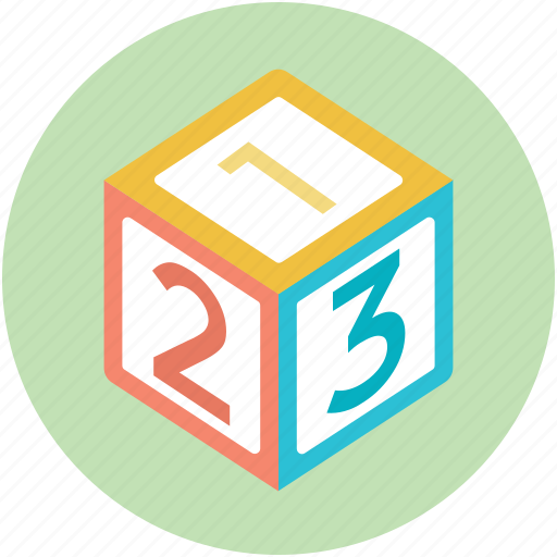 basic math, early education, kindergarten, math block, numeric blocks icon