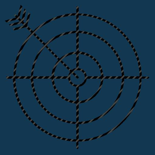 bullseye, dart, dartboard, goal, objective, target icon