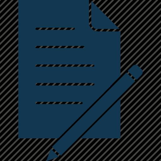edit, notepad, pen, pencil, write, writing, writing pad icon