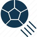 ball, football, football in air, game, soccer ball, sport, sports equipment icon