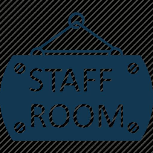 hanging sign, school room, school sign, staff room, staff room hanging sign icon