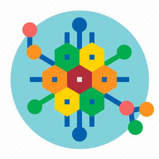 biology, cell, genetic, nucleus icon