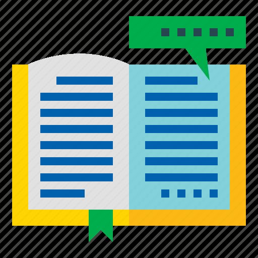 book, education, reading, study icon