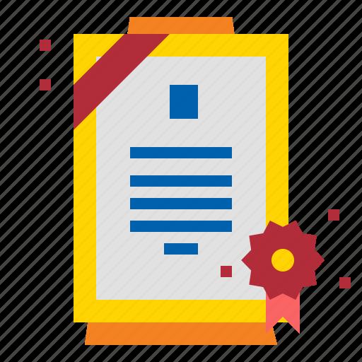 certificate, credentials, diploma, qualification icon