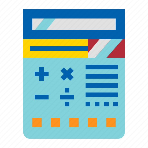 Calculate, calculator, education, math icon - Download on Iconfinder