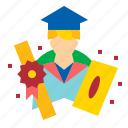graduate, literati, pundit, sage icon