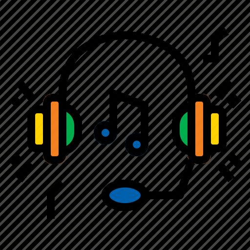 headphone, listening, music, sound icon