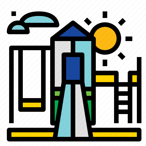 Kids, park, play, playground icon - Download on Iconfinder