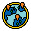 earth, geography, globe, location icon