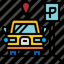 car, park, parking, yard