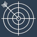 arrow, bullseye, dart, dartboard, direction, objective, target icon