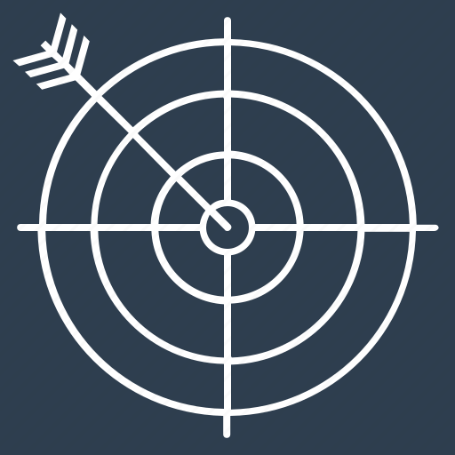 arrow, bullseye, dart, dartboard, direction, objective, target icon