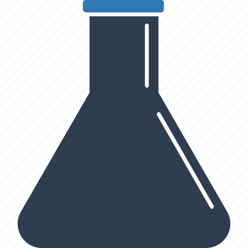 chemical flask, chemistry, conical flask, flask, laboratory, science icon