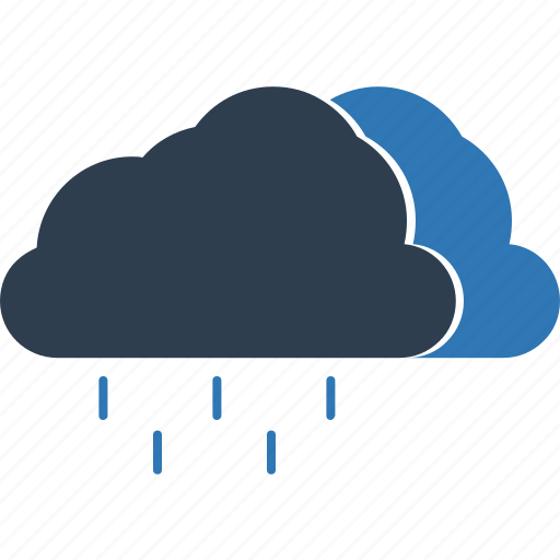 clouds, forecast, puffy clouds, rain, raining, rainy climate, weather icon