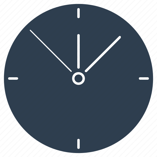 clock, time, timekeeper, timer, wall clock, watch icon