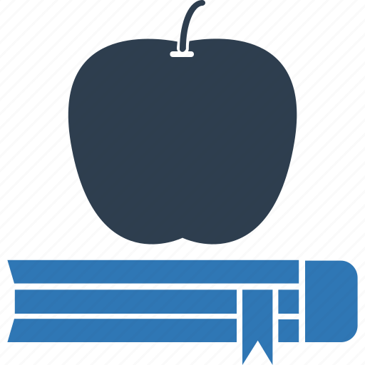 apple, books, education, learning, learning book, reading icon