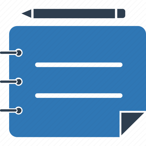 notebook, notepad, notes, paper, scratch pad, writing pad icon