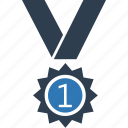 achievement, medal, position medal, prize, reward, success icon