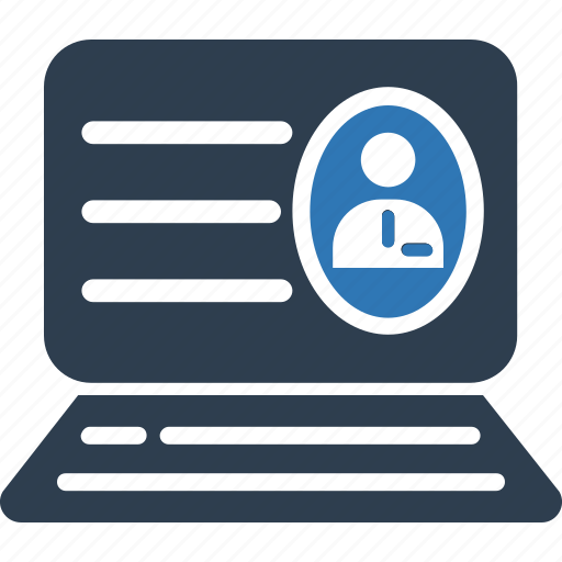 application, avatar, online cv, online profile, profile, web profile icon
