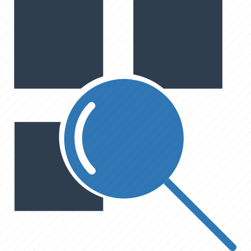 find, lab equipment, layers search, magnifier, magnifying glass, magnifying lense, search icon